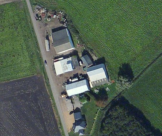 Aerial view of Laurel Farm, Main Drove, near Pymoor, 2010