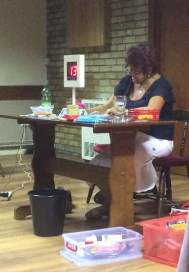 Christine Saberton at the Bingo Night in the Pymoor Cricket and Social Club, Pymoor Lane, Pymoor, 2016