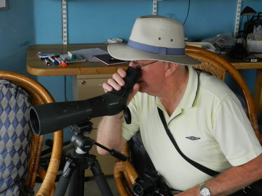 Alan Butcher takes a closer look at the wildlife from the Hide at Widgeon House, Dunkirk, near Pymoor, 2016