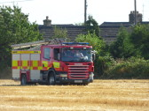 Fire Engine in Graham Lark's field off Pymoor Lane, 2016