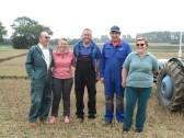 Graham Lark, Erica Wicks, Simon Wicks, Jon Lark and Trudy Lark of Pymoor at a Ploughing Match, 2016