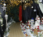 Santa's Grotto at the Pymoor Cricket and Social Club Christmas Bazaar, 2016