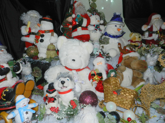 Santa's Grotto at the Pymoor Cricket and Social Club Christmas Bazaar, 2016