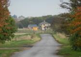 Pymoor Lane looking East towards Laurel Farm, in Main Drove, 2016