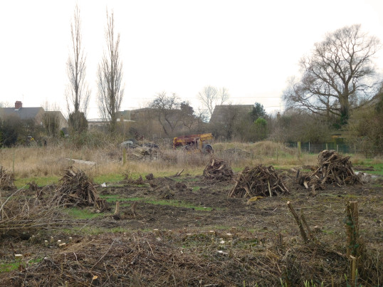 The site of the former Copse in Pymoor Lane, now cleared and earmarked for house building, 2017