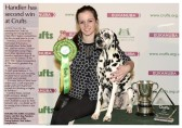 Charlotte-Louise Page of Pymoor and her dog Pandora won the Young Kennel Club (YKC) Stakes competition at Crufts for the second year in a row, 2017