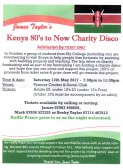James Taylor of Pymoor is organising a Kenya 80's to Now Charity Disco at the Pymoor Cricket and Social Club on Saturday 13th May 2017. (See Poster for Details)