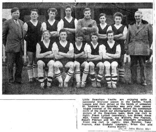 Little Downham Youth Football Team, 1960