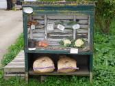 Tony and Sue Rudderham's vegetable stall in Pymoor Lane, Pymoor, 2017