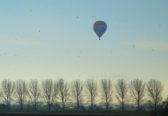 Hot Air Balloon over Pymoor Farm, Oxlode, near Pymoor, 2017