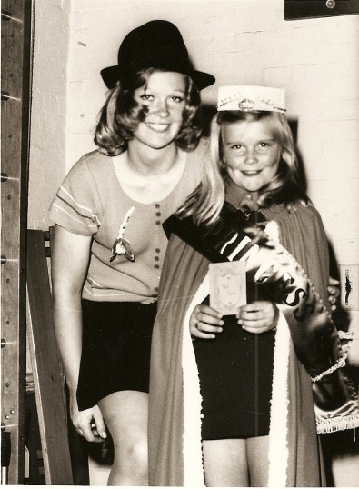 Lynn Hancock (now Sayer) of Ramsey St. Mary's winner of Fenland Junior Princess competition with Miss Anglia