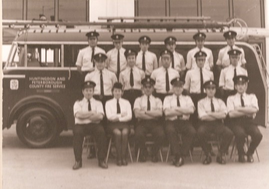Ramsey Retained Fire Service Crew then under Huntingdon and Peterborough County Fire Service.