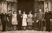 The wedding of Clarence Papworth and Patricia Chatfield both of Ramsey at Thomas A Becket Church,Ramsey