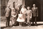 The wedding of Len Chatfield and Ethel Stoke at Bury Chursh