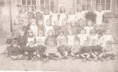 Ramsey Spinning Infants School.M. Goodliff far right back row.  Audrey Atkinson centre back row.