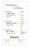 Advertisment for Susans from the Ramsey Trades Fair programme.