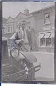 John Herbert Freeman with his Morris Oxford EW5460 in Great Whyte, Ramsey