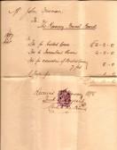 Ramsey Burial Board receipt
