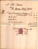 Ramsey Burial Board receipt.