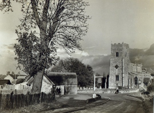 The Three Horshoes public house and the Church at Wistow