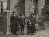 Enhanced photo of Olive, Raymond, Burt & Mrs Mary Hales, of Wistow