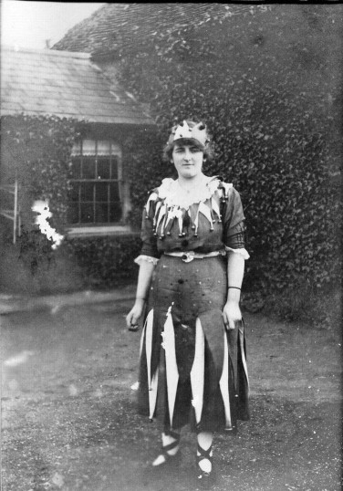 Olive Hales of Mill Lane, Wistow in fancy dress.