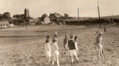 Children from Bury C of E School in the playing field, now the Golf Course.