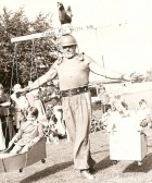 Walter Cornelius Strong Man preforming at Bury Gala