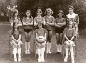 The Ramsey Junior School Netball team in 1972.