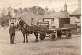 W.H.Gammons Potato Merchants cart in New Town Road, Ramsey