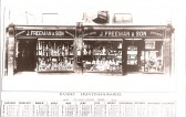 Calendar distributed by J.Freeman & Son, showing their shop at 6-8 Great Whyte,Ramsey