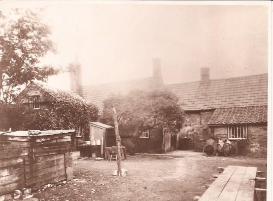 Rear Babinda House (left) and house since demolished, High Street, Bury.