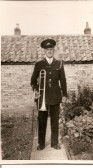 Arthur Richards in the uniform of the Ramsey Town Band