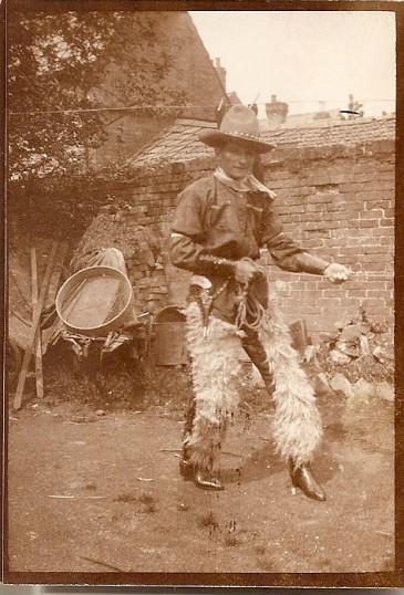 Arthur (Sid) Edwards in cowboy dress for a fancy dress occasion.