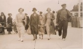 Hilda, Sarah (nee Pedley) Joan,Doris & William Greenwood from Ramsey.  Taken in Hunstanton.