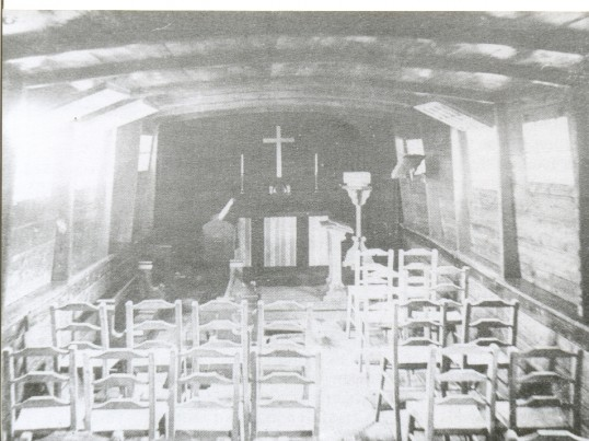 Interior of The Floating Church, moored at Stokes' Yard.