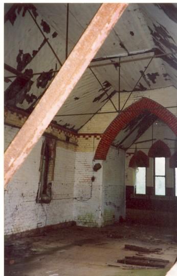 Interior of St. Benet's Church (now derelict), Ramsey Hollow.
