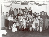Ramsey Forty Foot Sunday School Party, taken in the original village hall c1952.