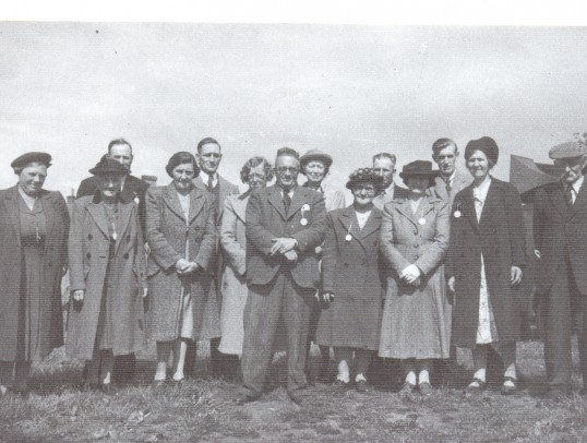 Old Village Hall Committee, Ramsey Forty Foot, taken in the early 1950's.