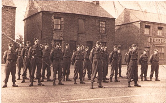 Ramsey Home Guard on parade.