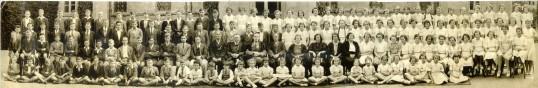 Ramsey Grammar School featuring F.T. Barnes, the headmaster.