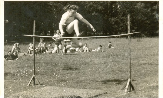 High Jump at The Huntingdonshire's Young Farmers Club Rally. June Bent