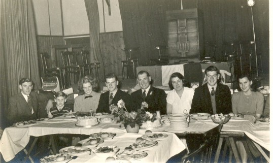Peter Chamberlain's 21st Birthday at the Women's Institute Hall, Ramsey. This was also Peter and Edith Chatfield's engagement party.