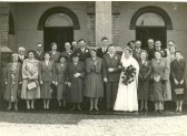 The wedding of Clarence Edwards & Kathleen Cross at Salem Baptist Church, Ramsey