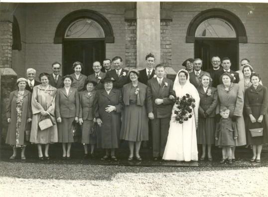 The wedding of Clarence Edwards & Kathleen Cross at Salem Baptist Church, Ramsey