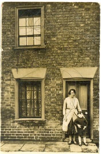 Clarence Edwards with Mum, Alice Janet Edwards (nee Edwards), Little Whyte, Ramsey