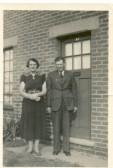 Lesley George Edwards and Alice Janice Edwards (nee Edwards) at West Avenue, Ramsey