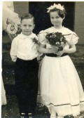 Albert Ewdards & Joy Goodburn (nee Shepperson) at the wedding of Clarence and Kathleen Edwards, Ramsey Salem Baptist Church.
