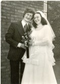 The wedding of Carol Ann Edwards (from Ramsey) and Albert Douglas Coe (from Sutton) at Warboys Grace Baptist Church