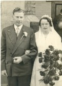 The Wedding of Kathleen Margaret Cross to Clarence John Edwards at the Ramsey Salem Baptist Church